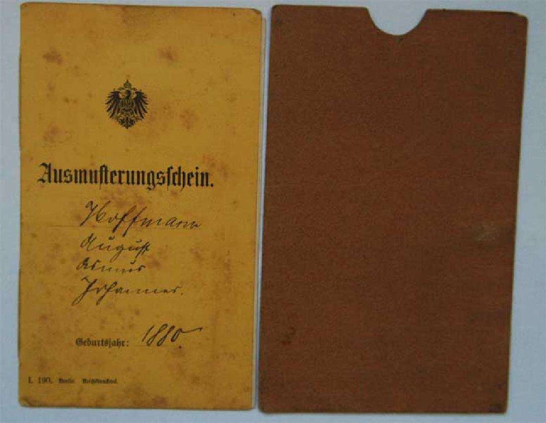 GERMAN WW1 MILITARY PASS with Etui, 1918