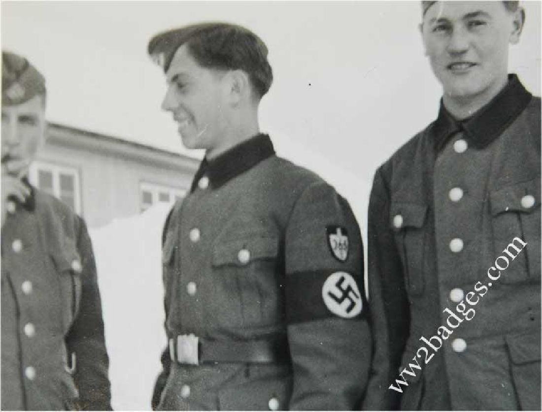 German WW2 Photo Soldiers w. SS and RAD shield