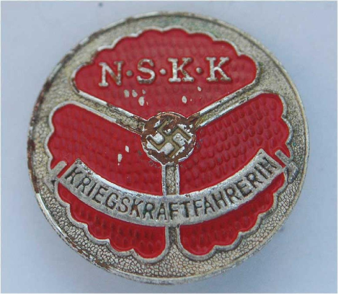 German WW2 Motorcycle Corp Badge, marked RZM