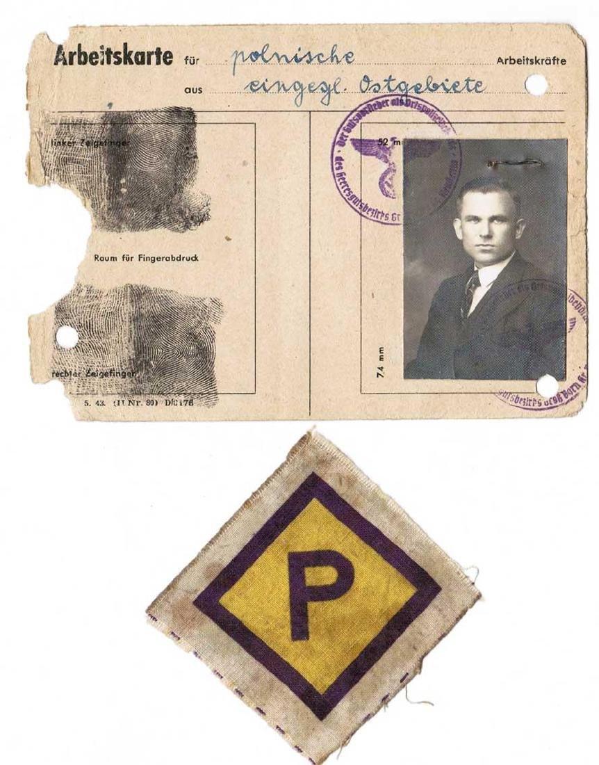 German WW2 Patch for Polish + ID, 1940