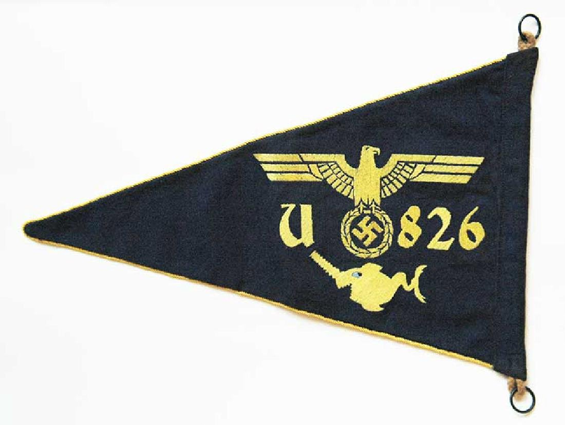 German WW2 Kriegsmarine U-boat U-826 Car Pennant