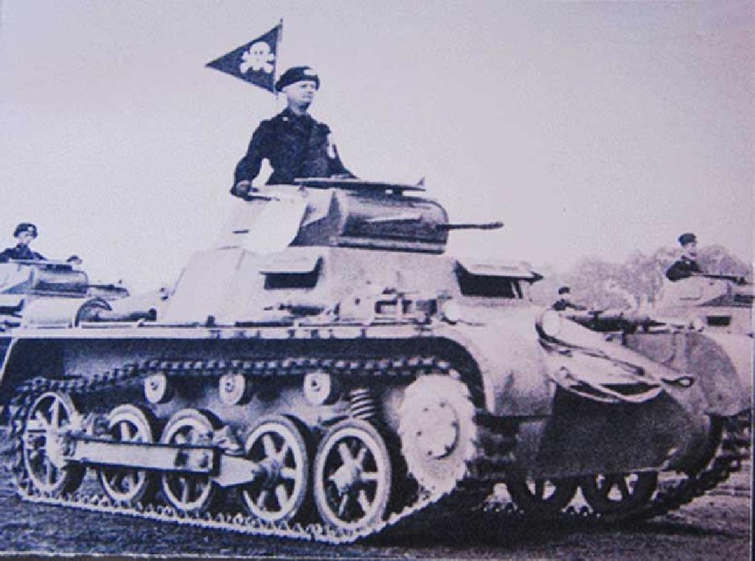 Very Rare German WW2 SS Elite Car Pennant w. RZM - 9
