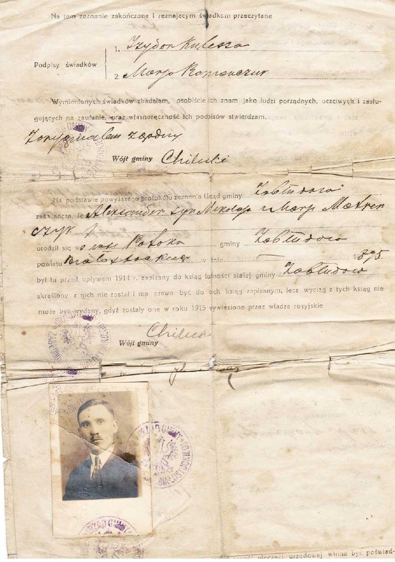 Polish Document for Property with Photo, 1927