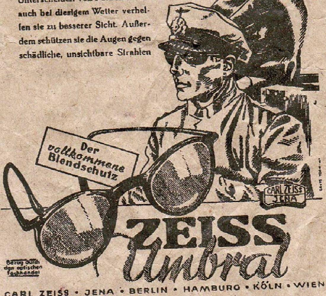 German WW2 Leaflet Advertise Zeiss Jena, 1940