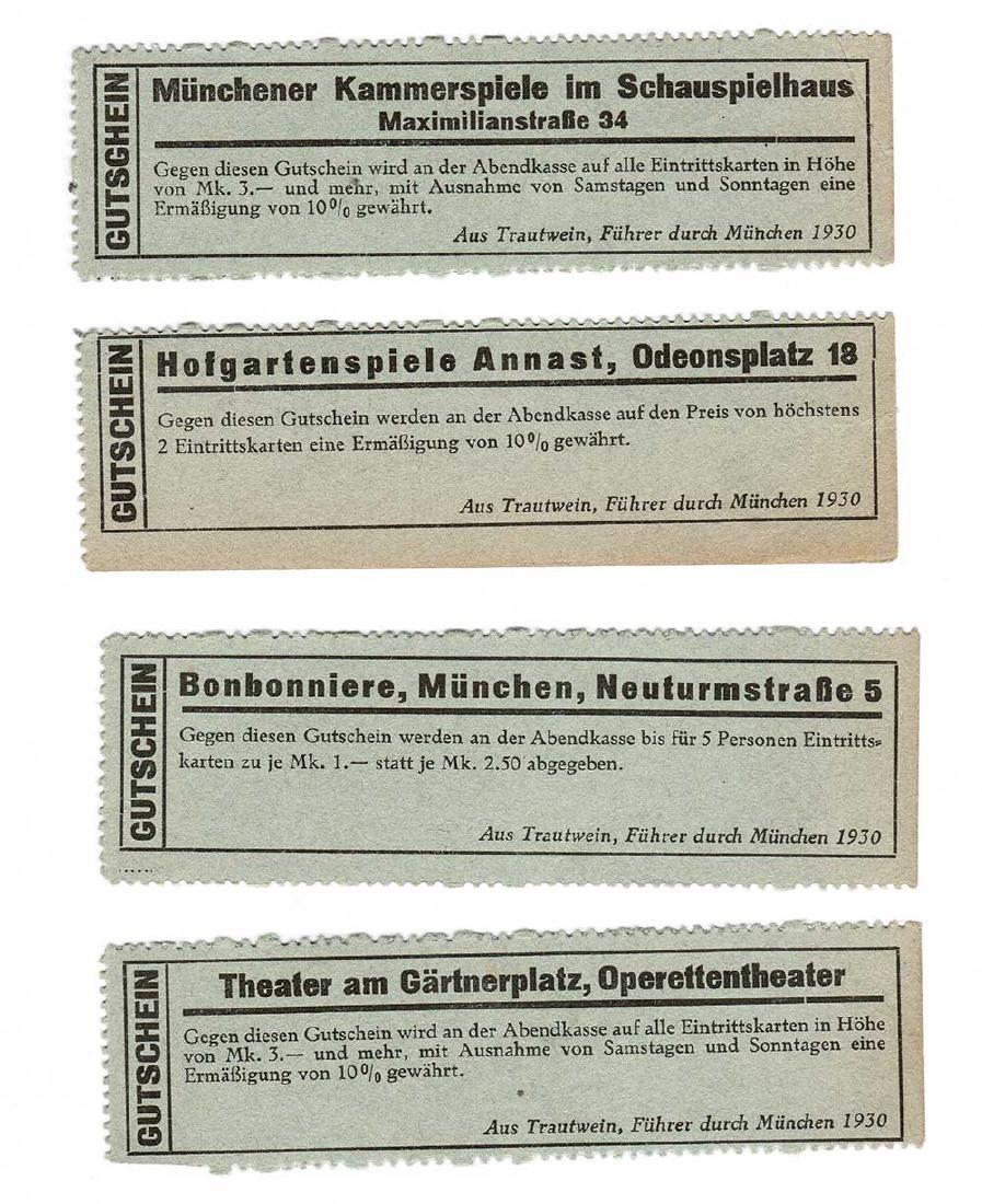 Rare Original German WW2 Ticket to Theatre, Opera