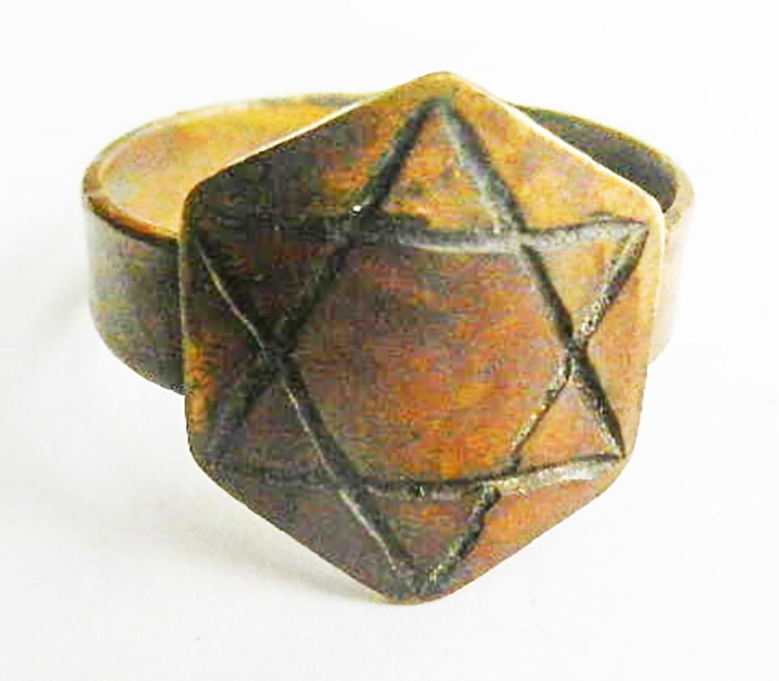 Original Jewish WW2 Ring w. Star of David, JUDAICA