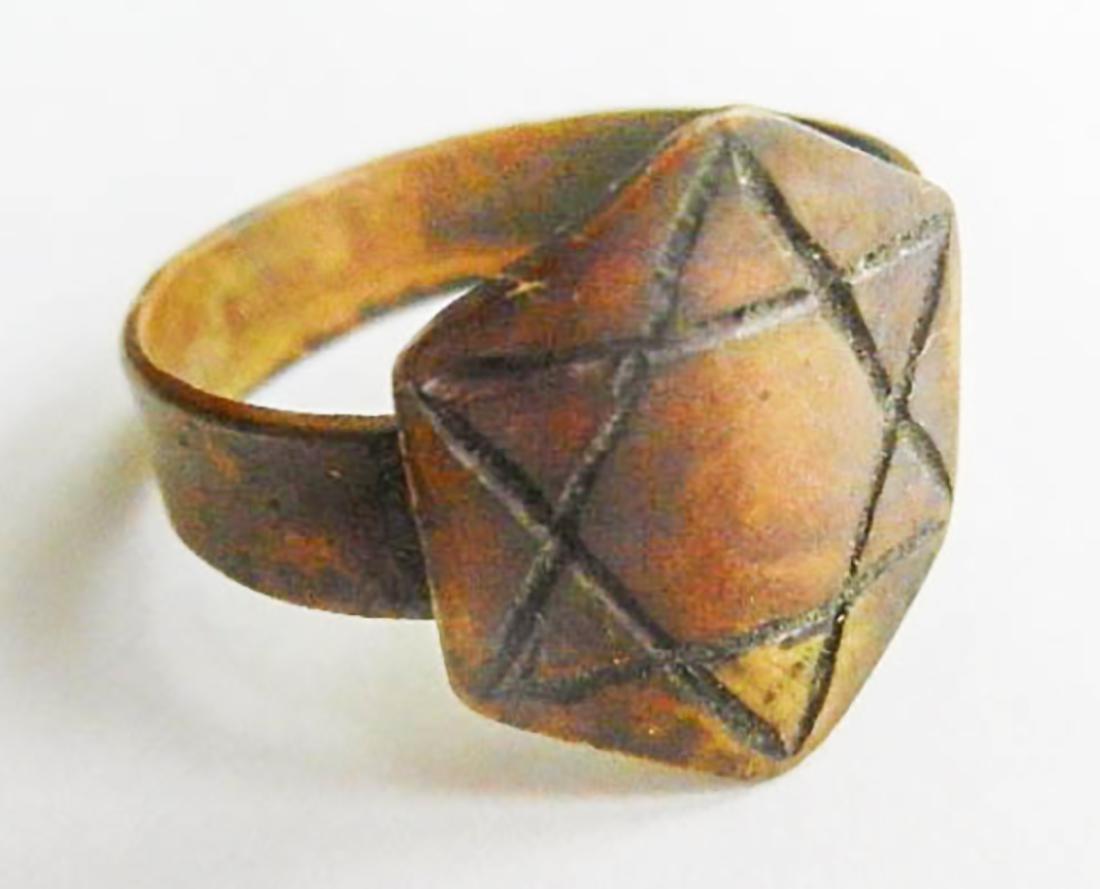 Original Jewish WW2 Ring w. Star of David, JUDAICA - 2