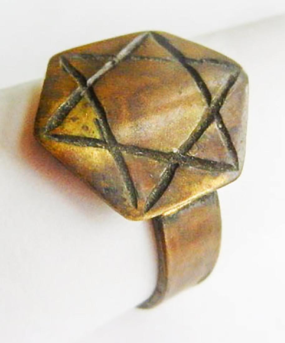Original Jewish WW2 Ring w. Star of David, JUDAICA - 4