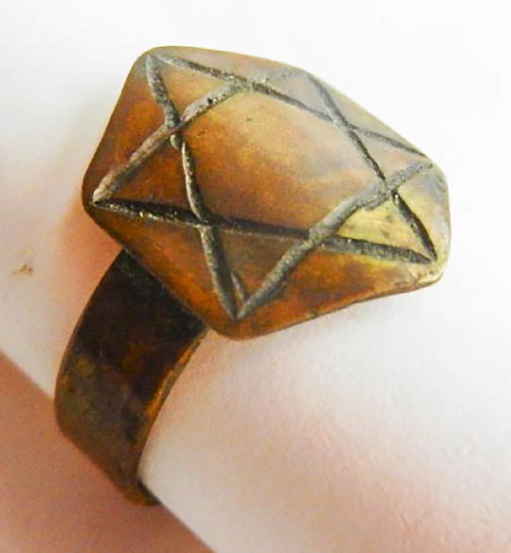 Original Jewish WW2 Ring w. Star of David, JUDAICA - 5