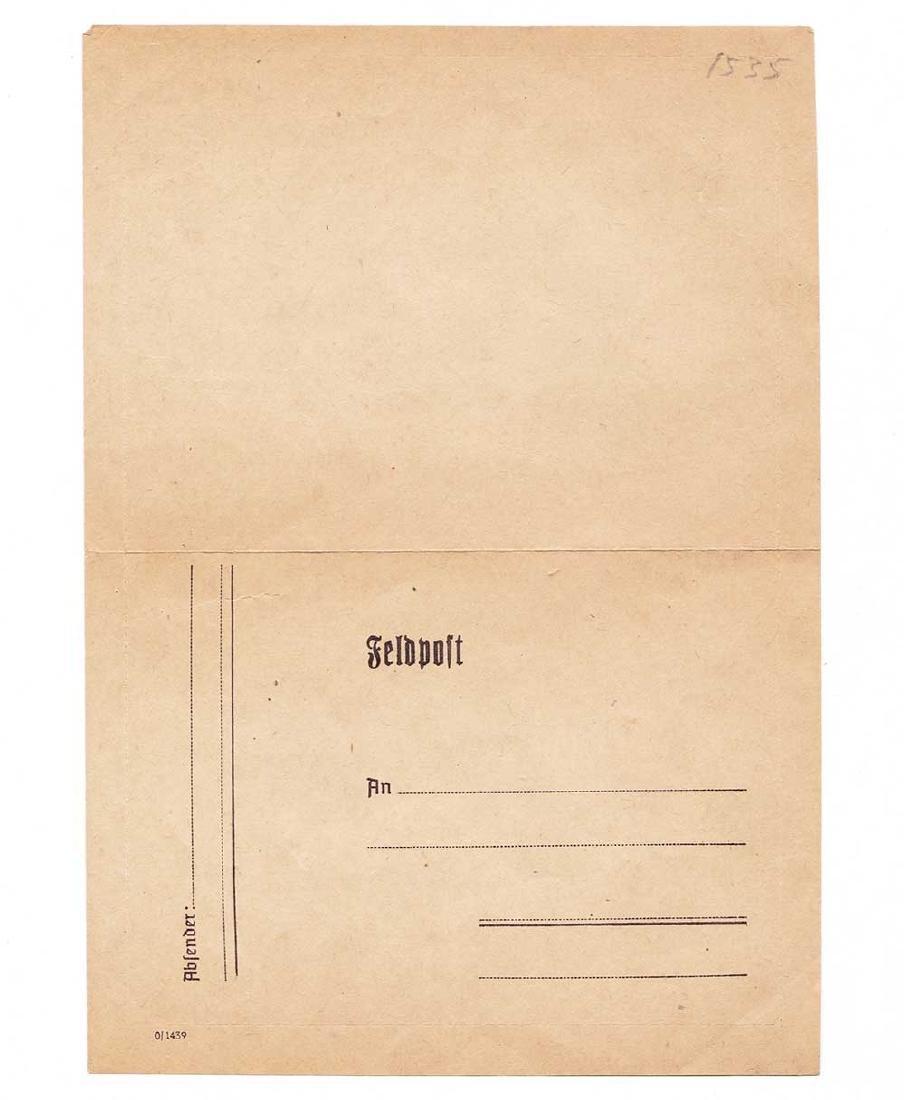 Rare German WW2 Blank of Feldpost, 1939 - 1945