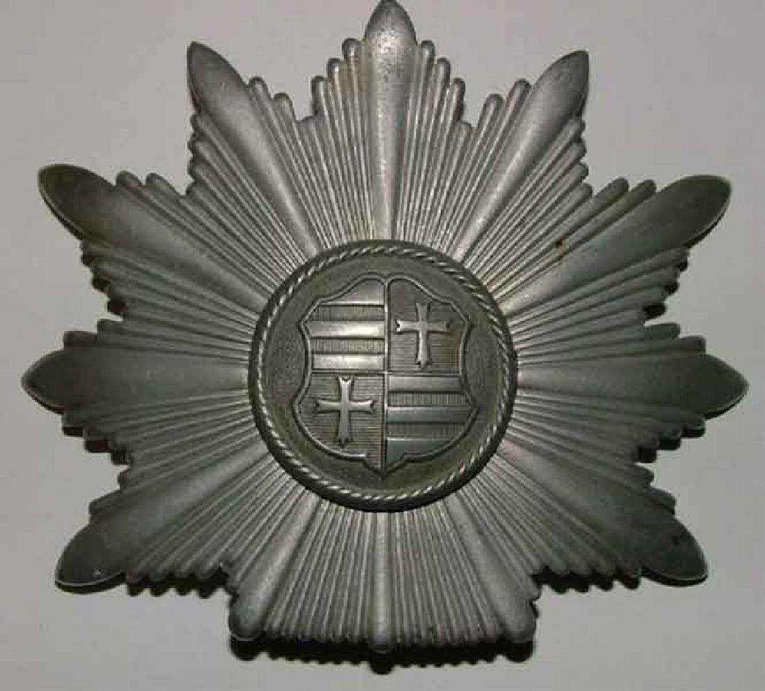 WW2 German Tschako Police silver badge