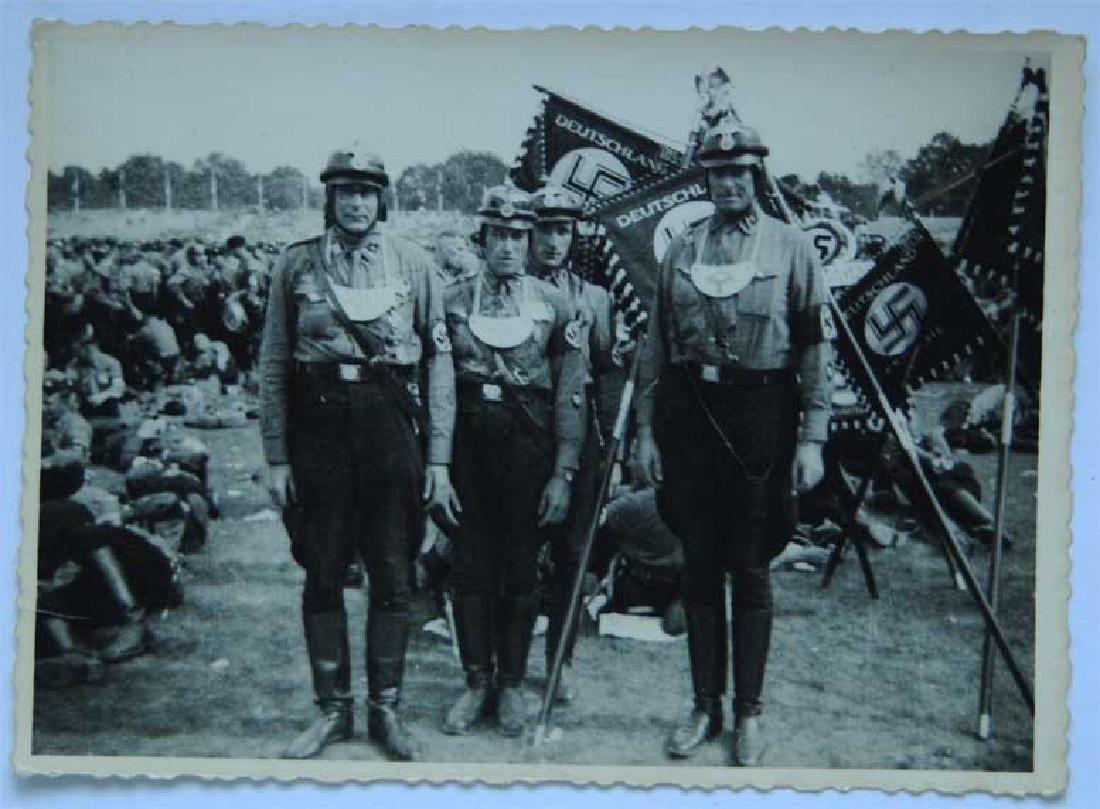 German WW2 Photo w. GORGET from KGB Archive