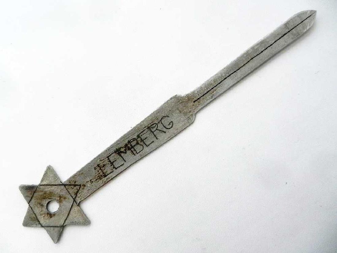 Jewish WW2 Knife for Envelopes w. Star of David
