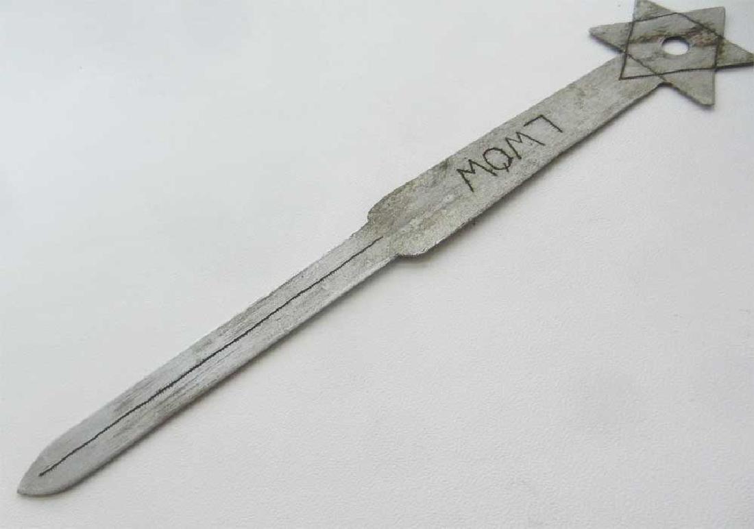 Jewish WW2 Knife for Envelopes w. Star of David - 3