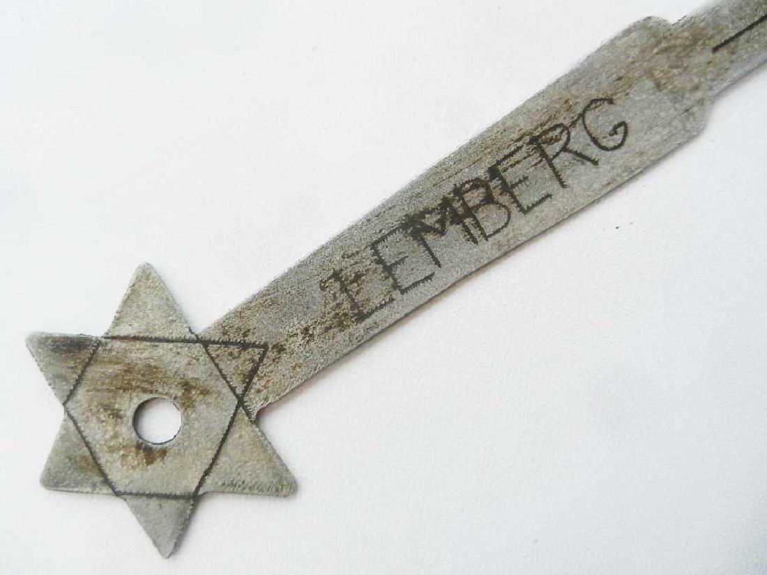 Jewish WW2 Knife for Envelopes w. Star of David - 6
