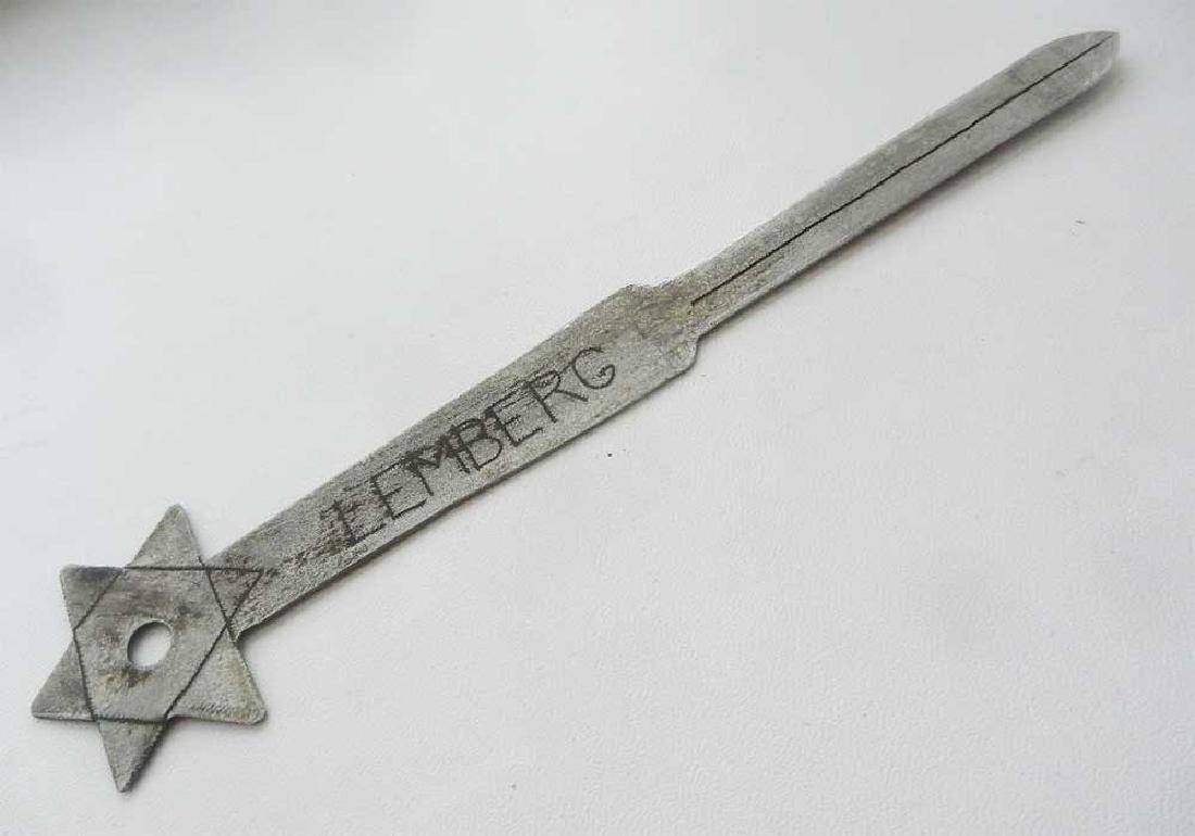 Jewish WW2 Knife for Envelopes w. Star of David - 9