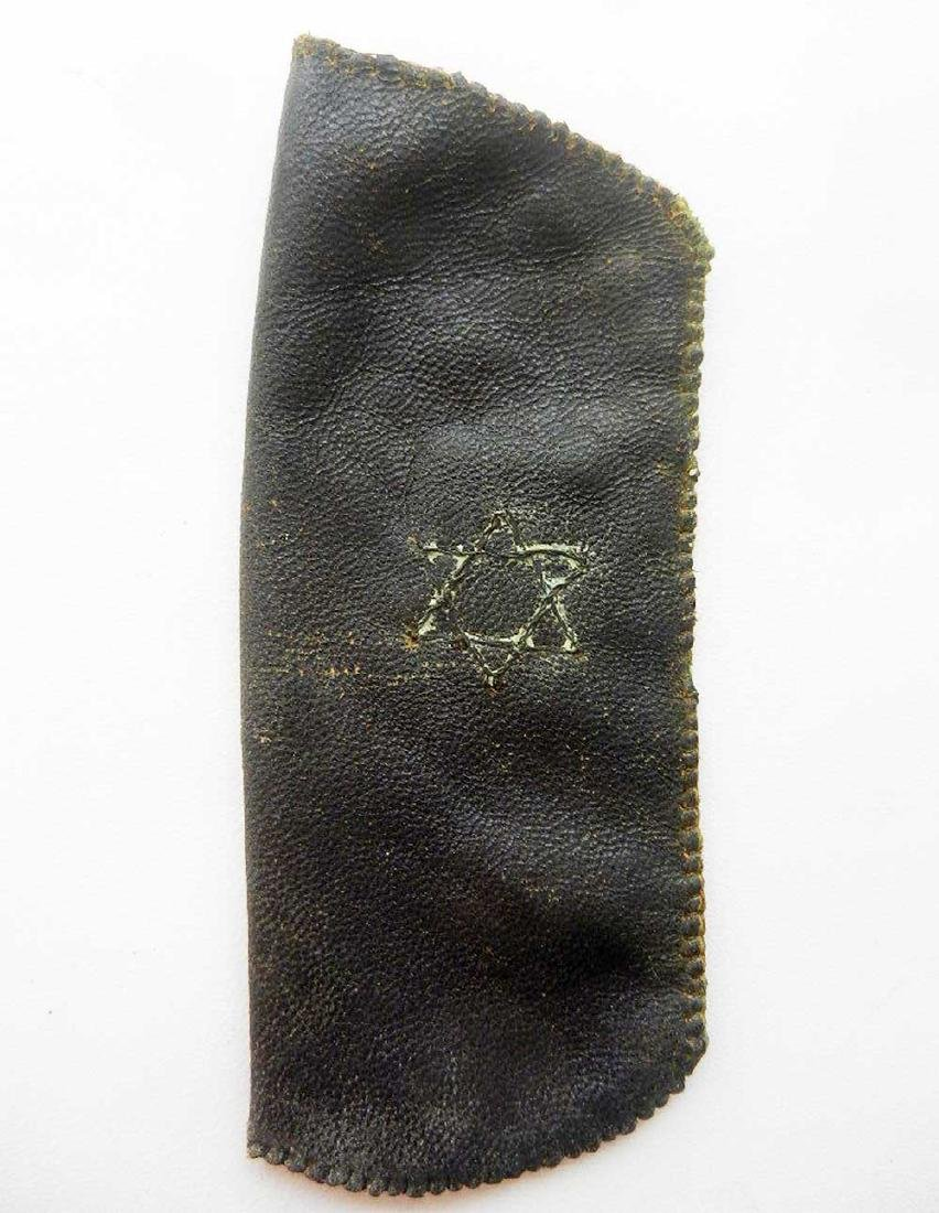 Jewish WW2 Leather Case w. David Star, Warsaw