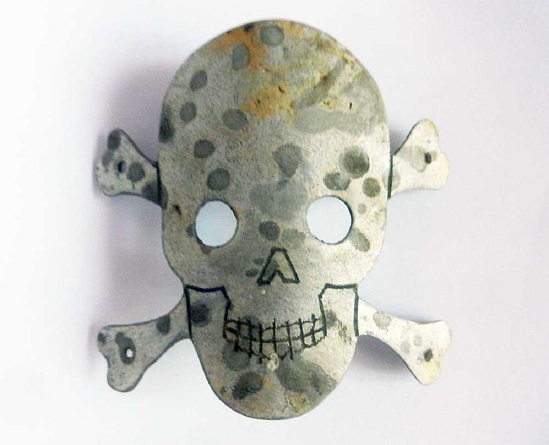 German WW2 Badge with Skull & Bones for Helmet M35