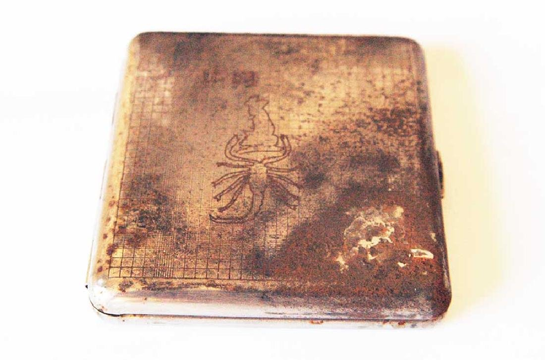 German WW2 Cigarette Case U-Boot U-59, Kriegsmarine
