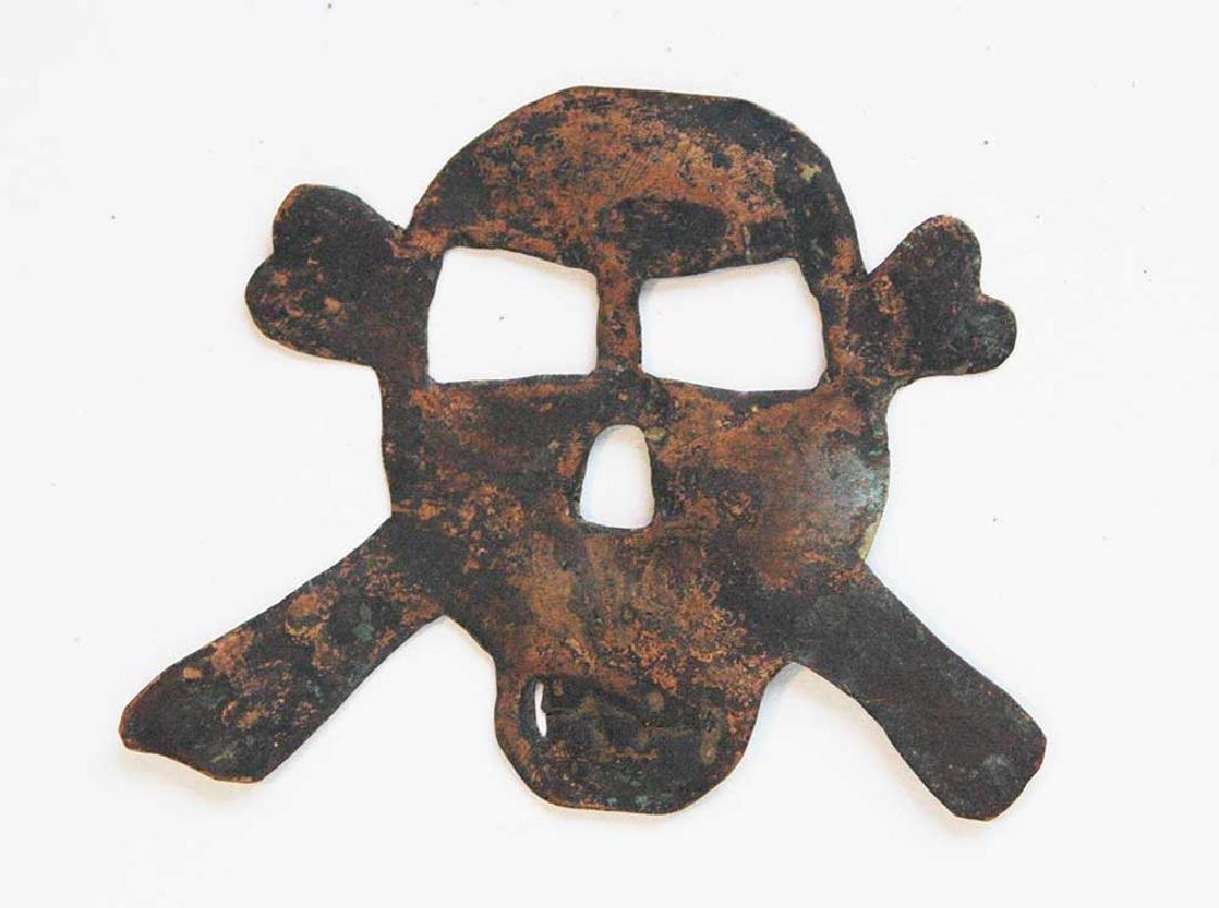 Original German WW2 Badge Skull & Bones, Trench Art