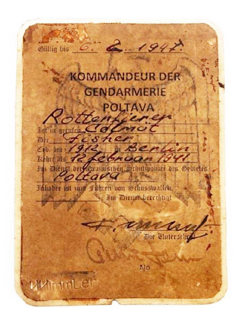 German WWII THIRD REICH EASTERN FRONT ID CARD - 4