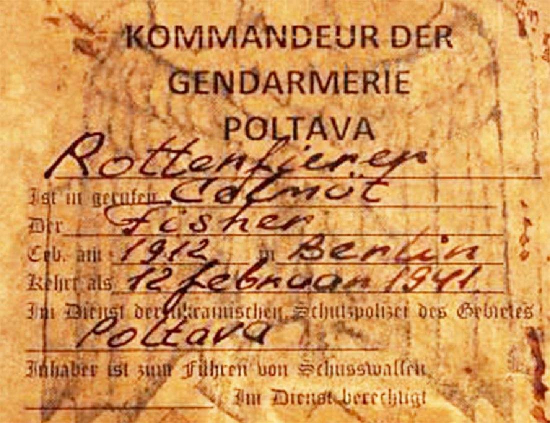 German WWII THIRD REICH EASTERN FRONT ID CARD - 5