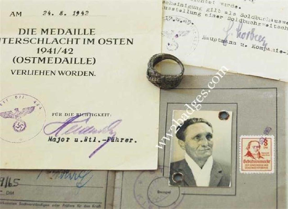 German WW2 Award Document OSTMEDAILLE, 1942 - 7