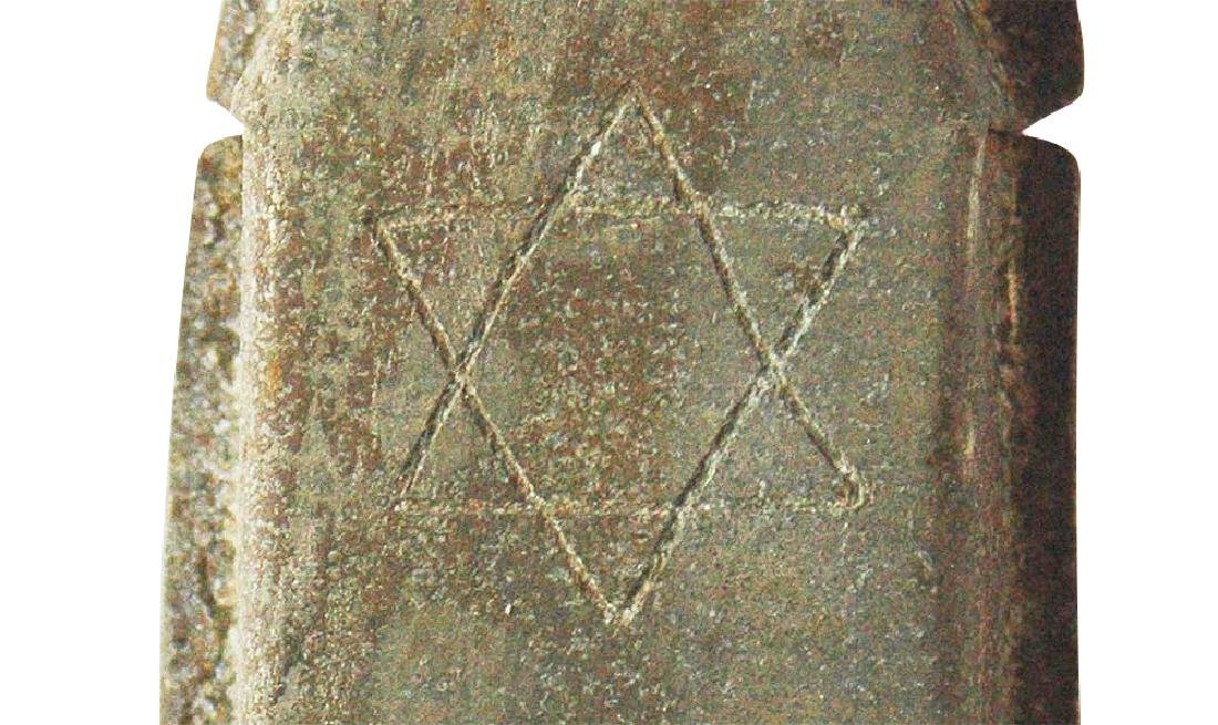 Jewish WW2 Mezuzah w. Star of David & Menorah, Krakow - 4