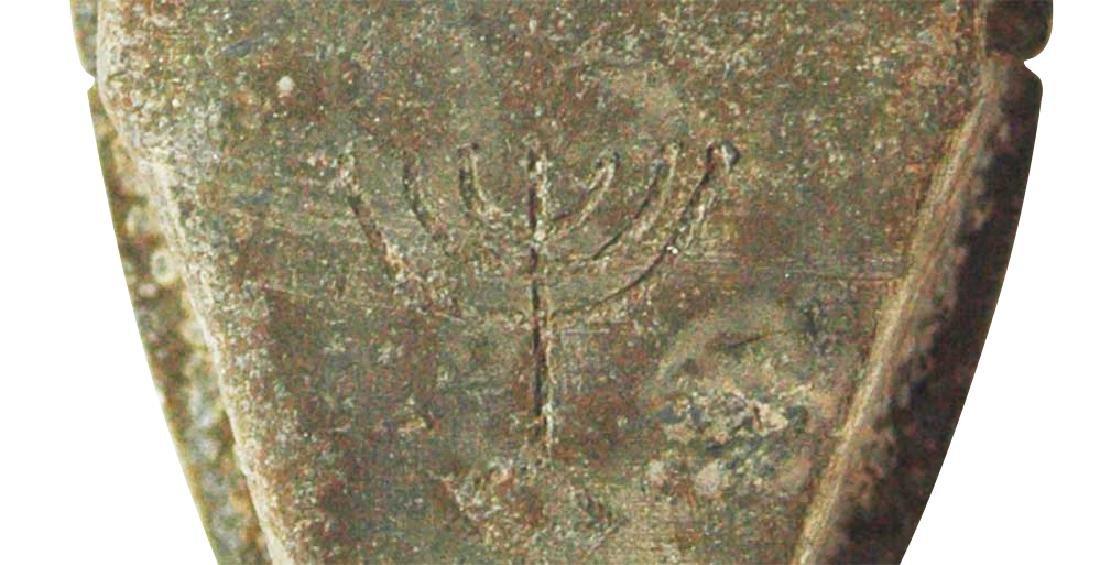 Jewish WW2 Mezuzah w. Star of David & Menorah, Krakow - 6