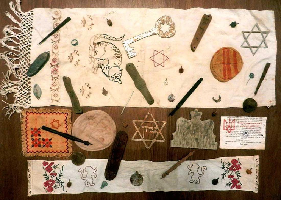 Jewish WW2 Mezuzah w. Star of David & Menorah, Krakow - 8