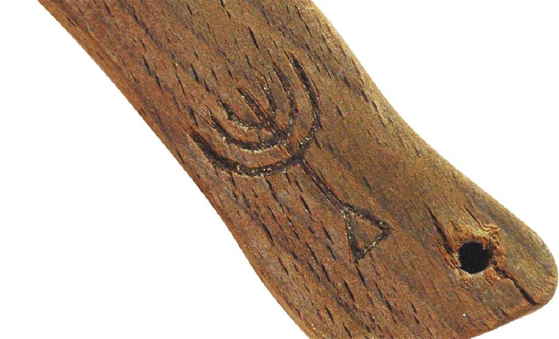Jewish WW2 Mezuzah w. Hebrew & Menorah, Krakow 1941 - 5