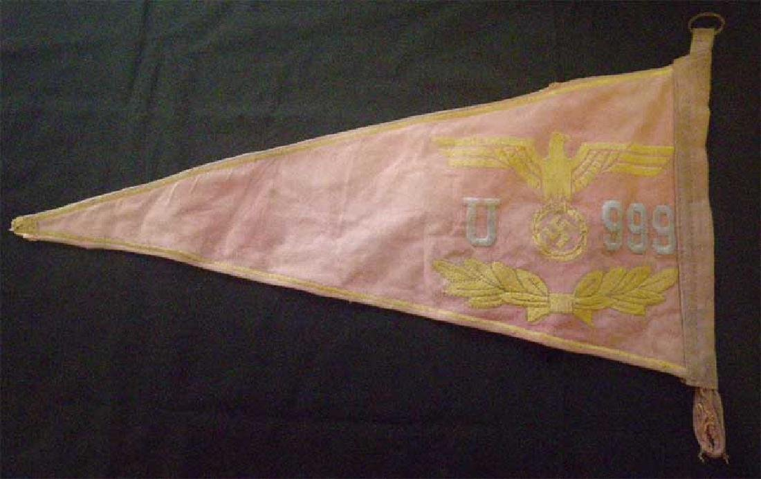 German WW2 U-boat Submarine U-999 Car Pennant