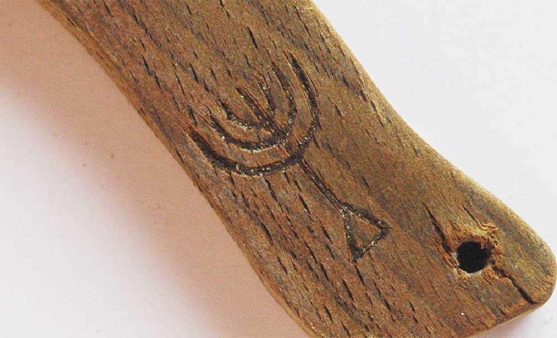 Jewish WW2 Mezuzah w. Menorah fr. Krakow, 1941 - 6
