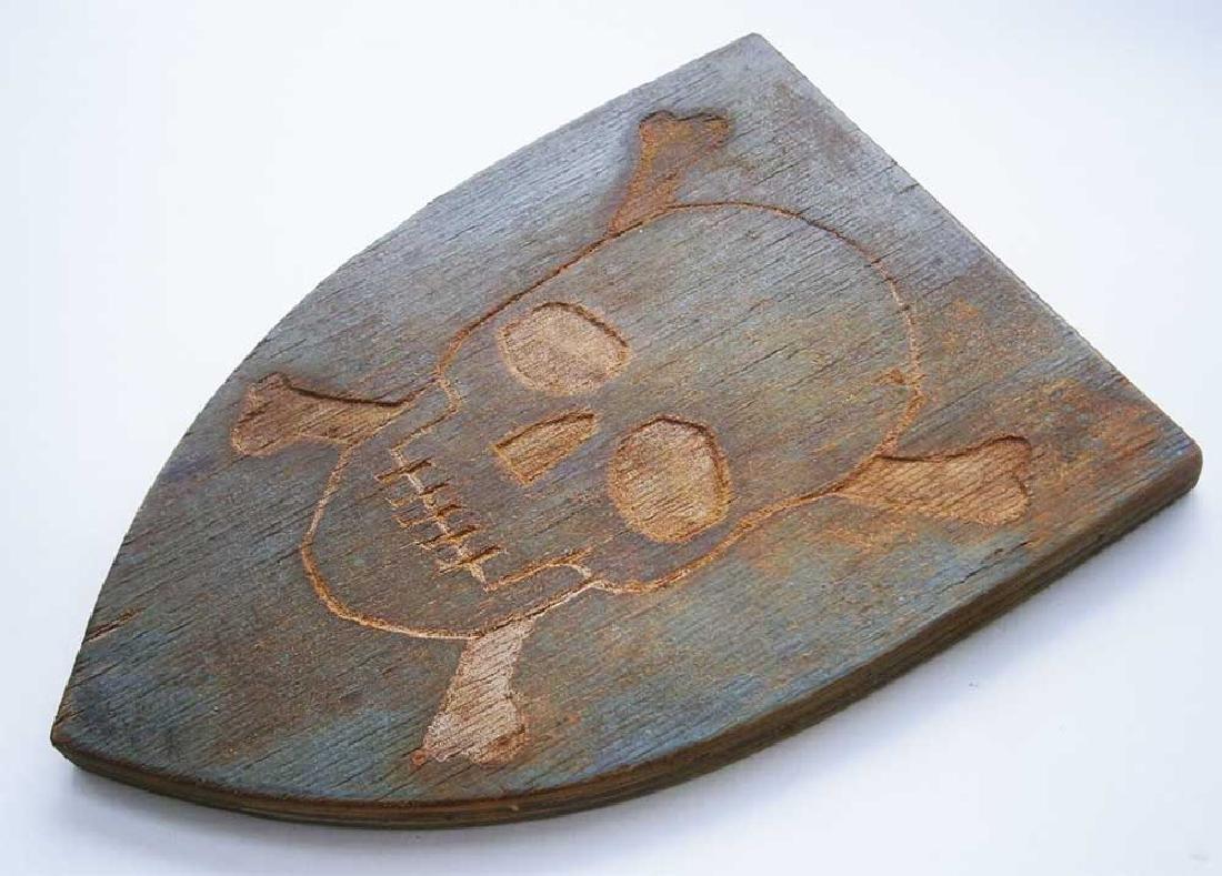 Original German WW2 Shield Skull & Bones, 1941-1945 - 3