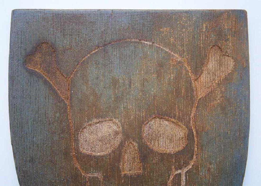 Original German WW2 Shield Skull & Bones, 1941-1945 - 5