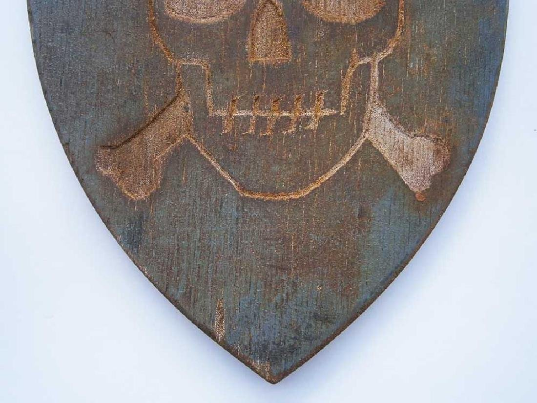 Original German WW2 Shield Skull & Bones, 1941-1945 - 6