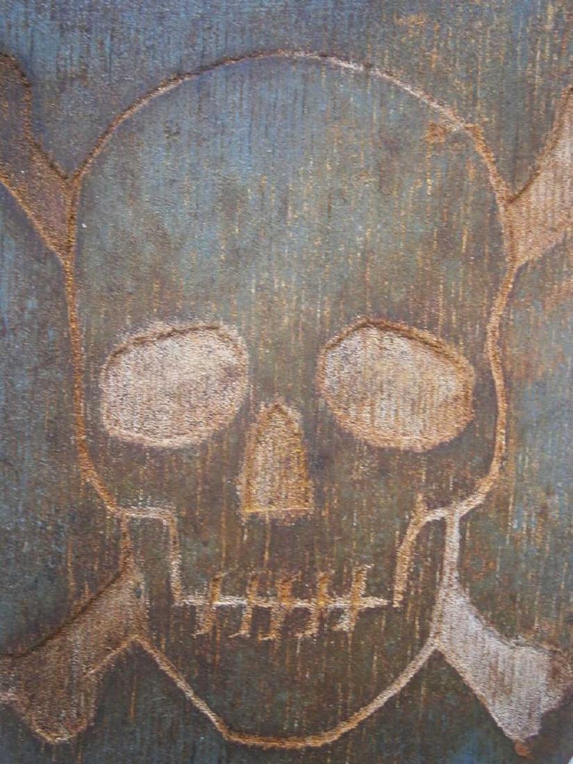 Original German WW2 Shield Skull & Bones, 1941-1945 - 7