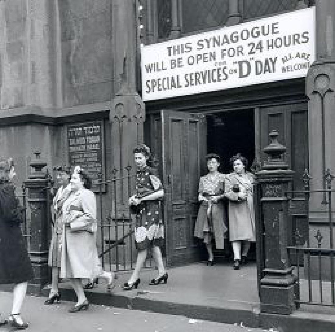 Jewish WW2 Handmade Embroidery Synagogue - 10