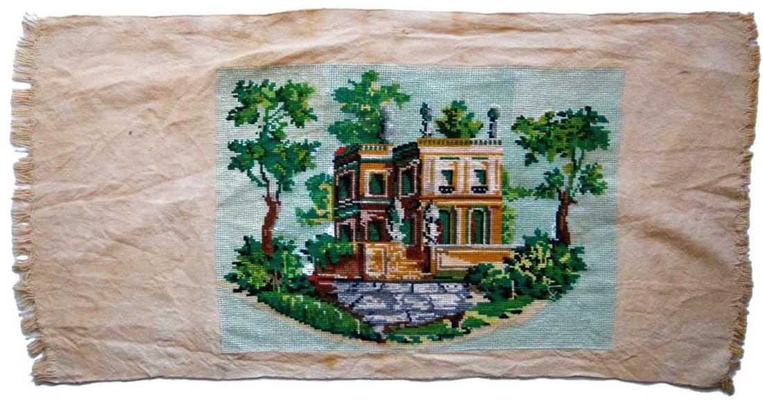 Jewish WW2 Handmade Embroidery Synagogue