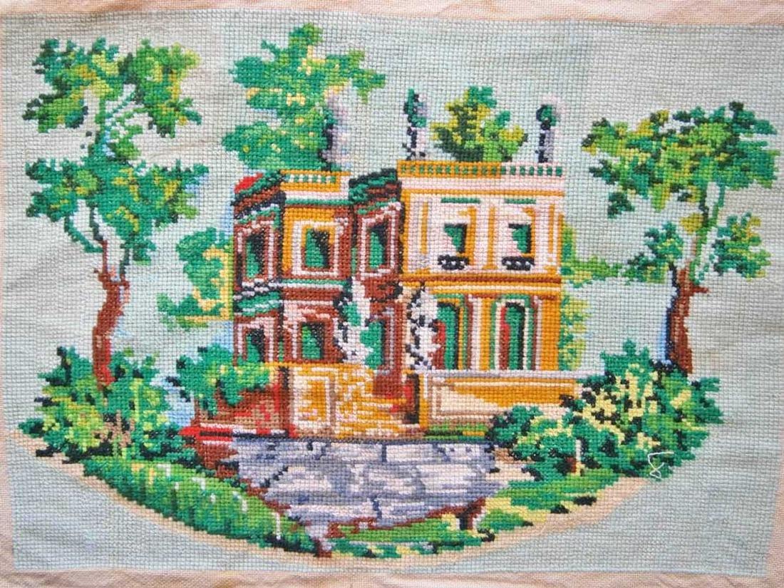 Jewish WW2 Handmade Embroidery Synagogue - 2