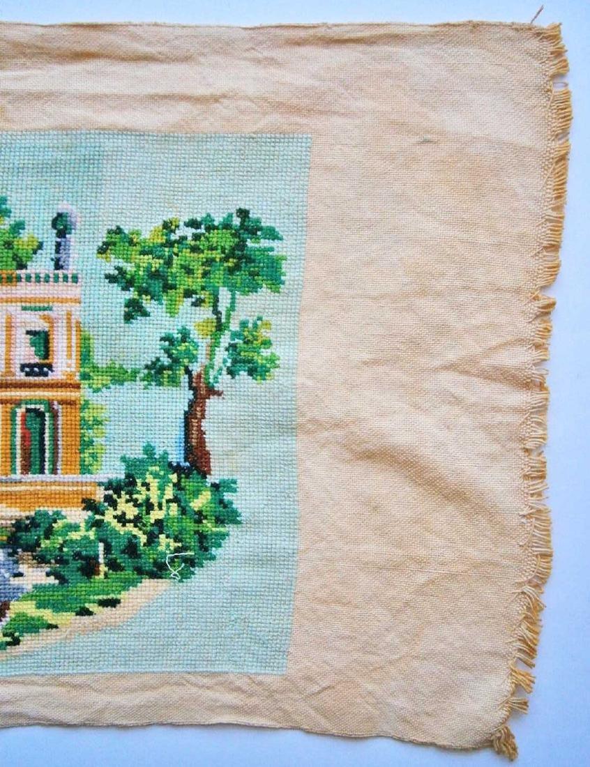 Jewish WW2 Handmade Embroidery Synagogue - 4