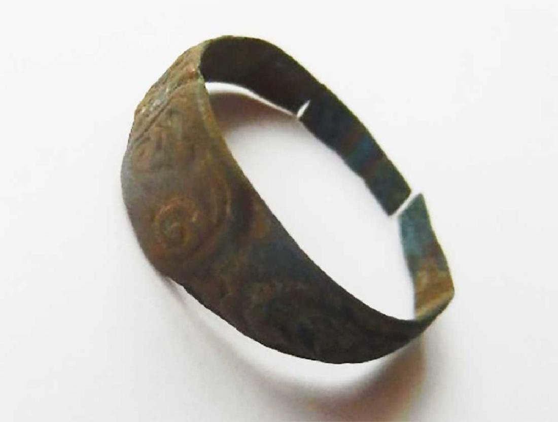 Original Jewish WW2 Ring w. Initial fr. Litzmannstadt - 4