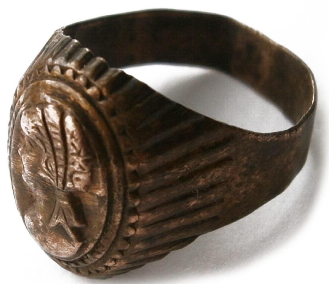 Original German WW2 Bronze Ring - 2