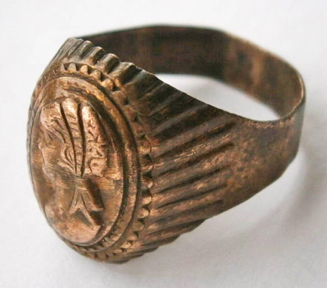 Original German WW2 Bronze Ring - 9