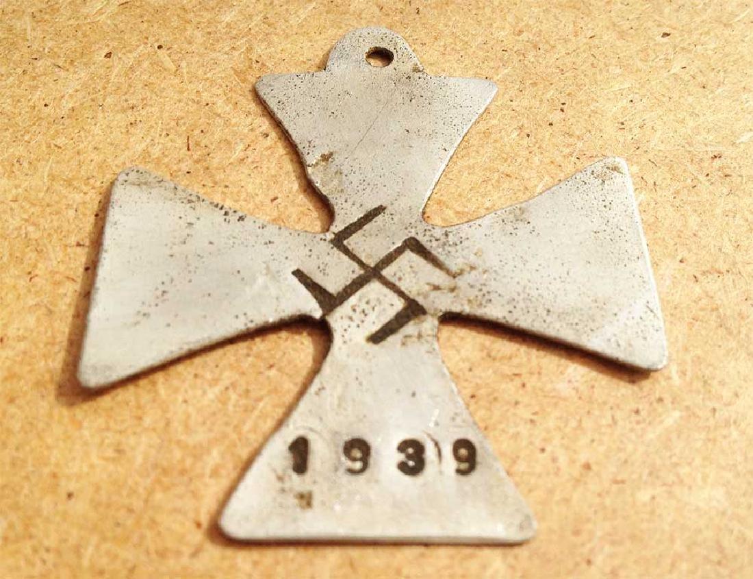 German WW2 Iron Cross + Swastika, Trench Art 1939