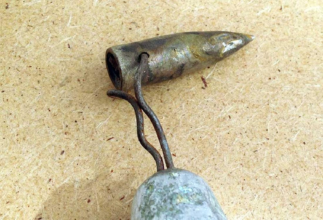 Original German WW2 Bell w. Bullet,1941-1945 - 5