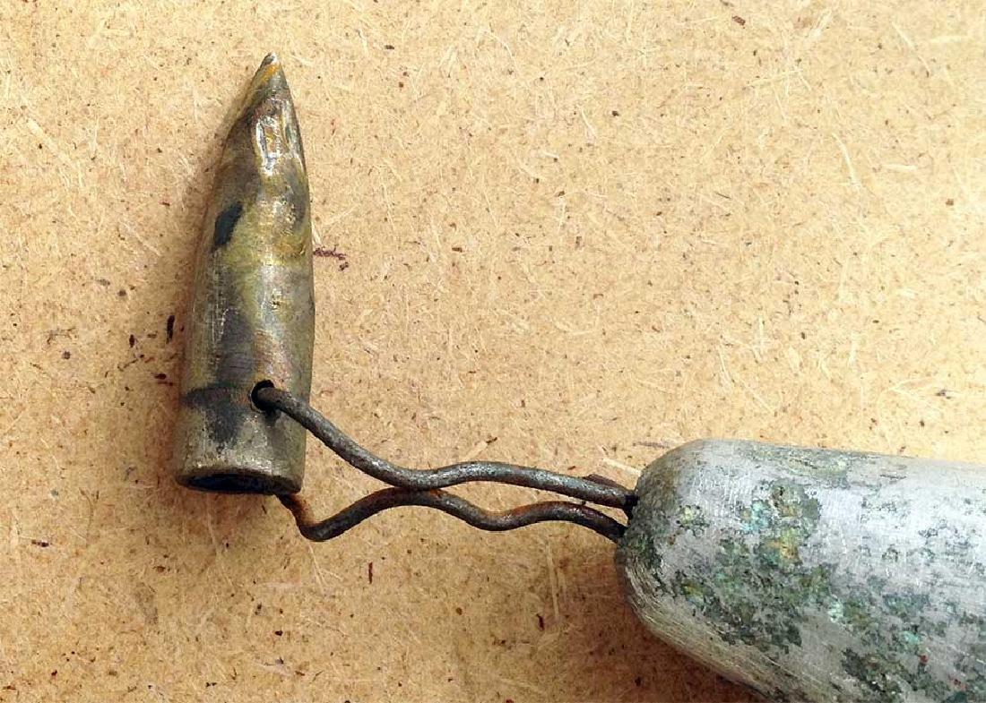 Original German WW2 Bell w. Bullet,1941-1945 - 9