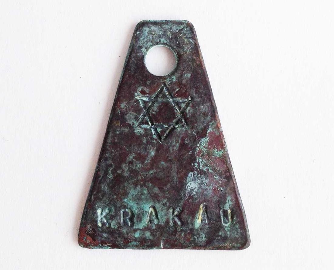 Original Jewish WW2 Badge w. Star of David, Krakau