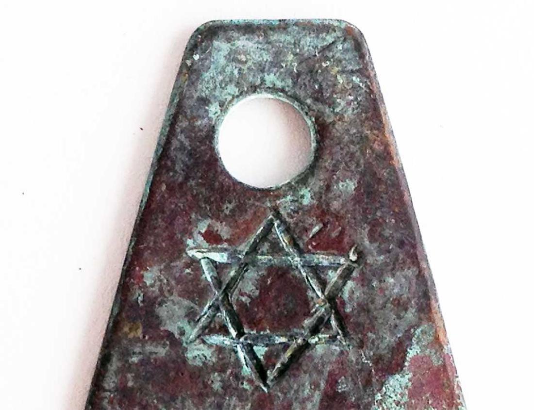 Original Jewish WW2 Badge w. Star of David, Krakau - 3