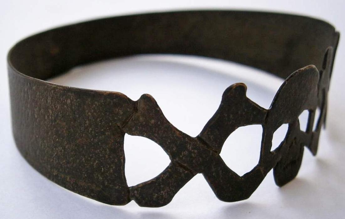 Original German WW2 Bracelet w. SKULL & Double BONEs - 2